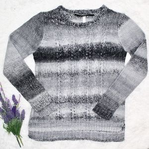 Kensie grey ombre cable knit sweater